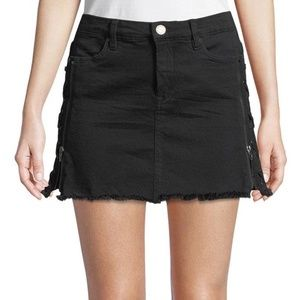 NWT Blank NYC Lace-up Front Zip Denim Skirt 30